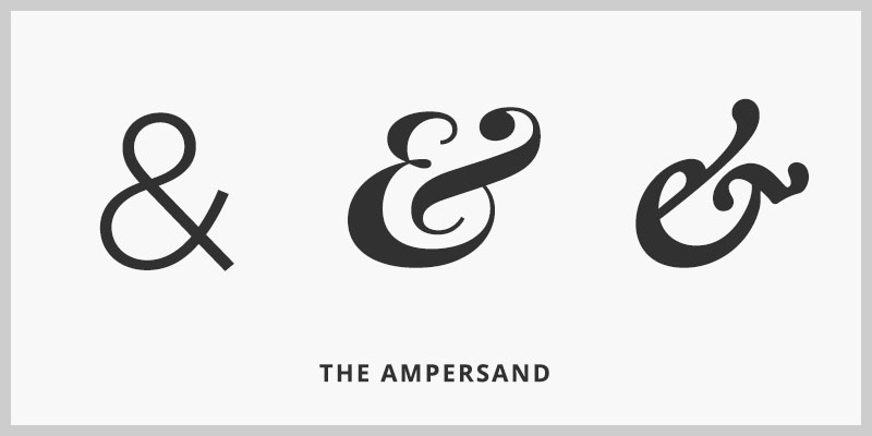 Typography: The Ampersand